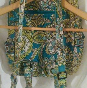 Blue/green pattern Vera Bradley backpack
